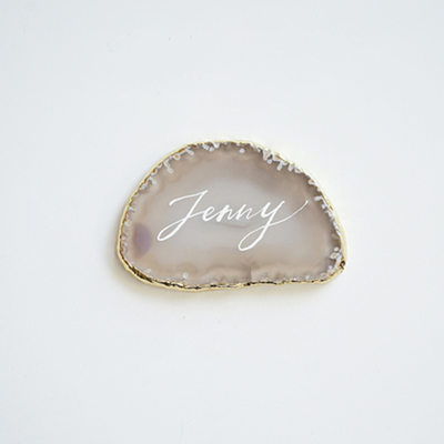 Bride Gifts - Personalized Classic Vintage agate Jewelry Holder