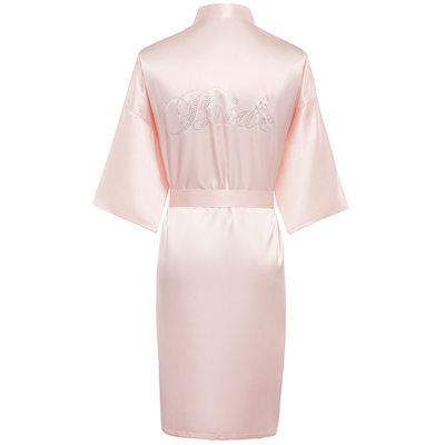 Bride Gifts - Solid Color Charmeuse Robe