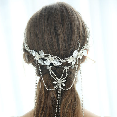 Ladies Glamourous Rhinestone/Alloy Headbands Rhinestone (Sold in single piece)