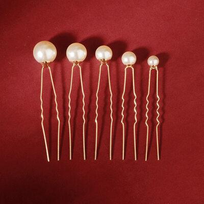 Damen Schöne Faux-Perlen Kämme und Haarspangen mit Venezianischen Perle (Satz 18)