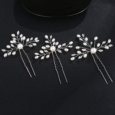 Ladies Eye-catching Rhinestone/Alloy Hairpins (Set of 3)