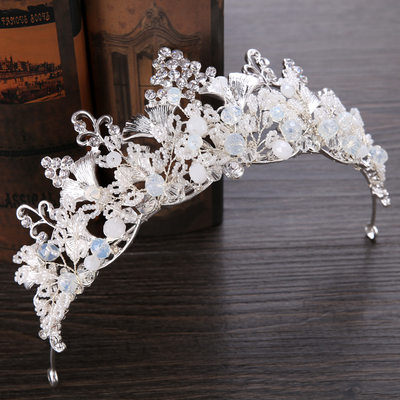 Ladies Fashion Rhinestone/Alloy/Imitation Pearls Tiaras With Rhinestone/Venetian Pearl (Sold in single piece)