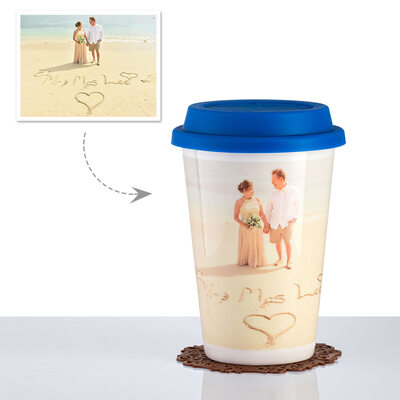 Groom Gifts - Personalized Romantic Custom Photo Photo Print Ceramics Cup Mug