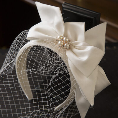 Ladies Beautiful Satin/Pearls Tiaras