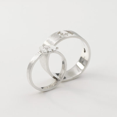 Personalized Ladies' Fancy 925 Sterling Silver With Round Engraved Rings Rings For Mother/For Friends/For Couple