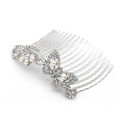 Simple Butterfly Alloy Hair Combs