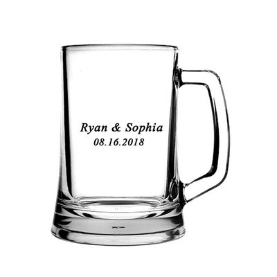 Groom Gifts - Modern Glass Beer Mug
