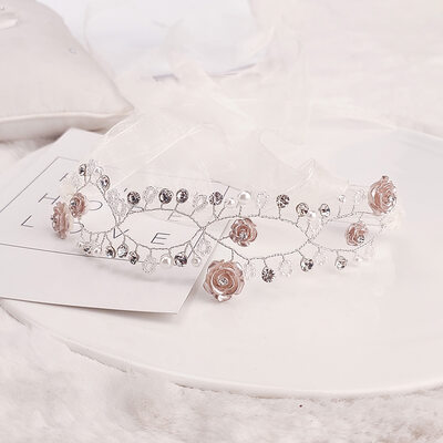 Beautiful Rhinestone/Lace/Copper Headbands With Rhinestone (Sold in single piece)