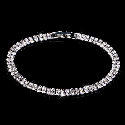 Ladies' Double Rows Alloy/Rhinestones Bracelets