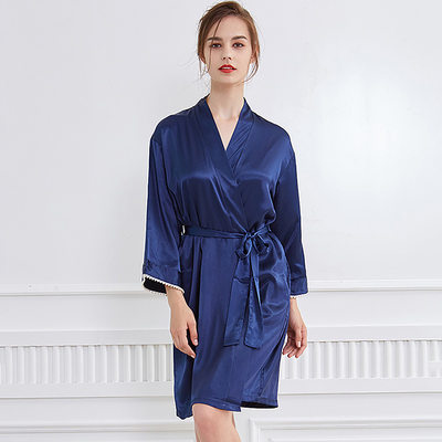Bride Gifts - Classic Elegant Fashion Ice Silk Robe (Sold in a single piece)
