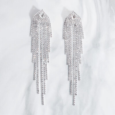 Ladies' Elegant Rhinestones Earrings For Bride/For Bridesmaid/For Mother/For Friends/For Couple