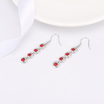 Ladies' Chic Crystal Earrings For Bride/For Bridesmaid/For Friends