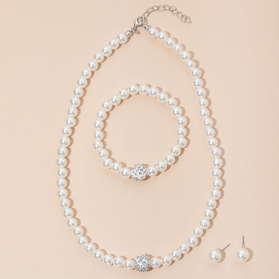 Nice Imitation Pearls Ladies' Jewelry Sets