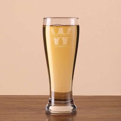 Groomsmen Gifts - Personalized Classic Glass Beer Mug