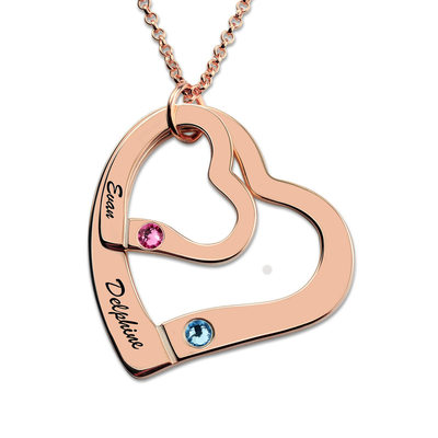 Personalized Ladies' Eternal Love With Round Cubic Zirconia Name/Engraved Necklaces For Bride/For Couple