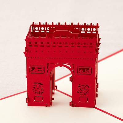 Three-dimensional Triumphal Arch Greeting Cards
