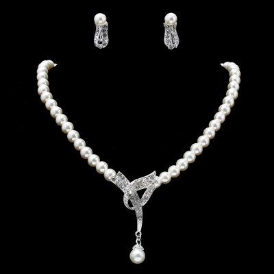 Hottest Alloy With Pearl/Rhinestone Jewelry Sets