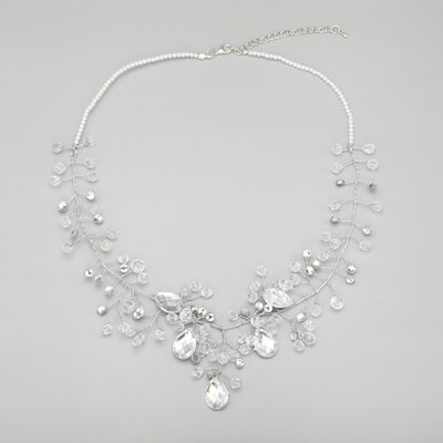 Beautiful Alloy With Crystal/Imitation Pearls Ladies' Necklaces