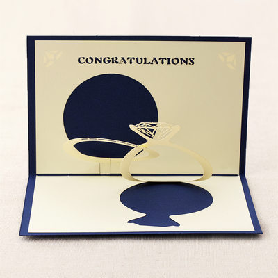 Three-dimensional Diamond Ring Greeting Cards