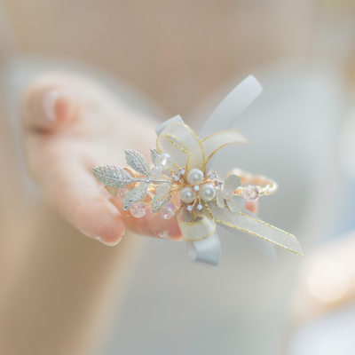 Bridesmaid Gifts - Delicate Alloy Silk Imitation Pearls Wrist Corsage