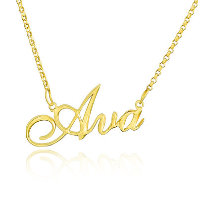 [Free Shipping]Custom 18k Gold Plated Silver Name Necklace (288211288)
