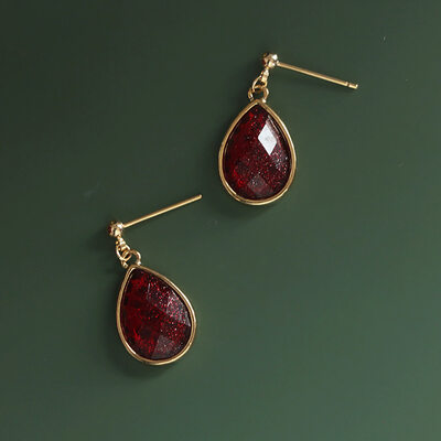 Ladies' Elegant Gold Plated/Brass With Pear Crystal Earrings For Bridesmaid/For Mother