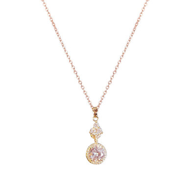 Ladies' Elegant Alloy/Zircon Cubic Zirconia Necklaces For Bride