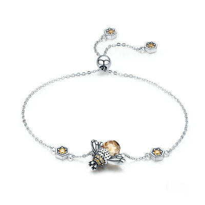 Platinum Plated Link & Chain Charm Bracelets Bolo Bracelets - Valentines Gifts For Her