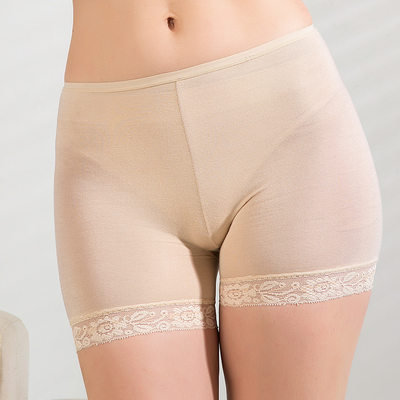 Women Sexy/Casual Cotton Mid-Rise With Lace Shapewear