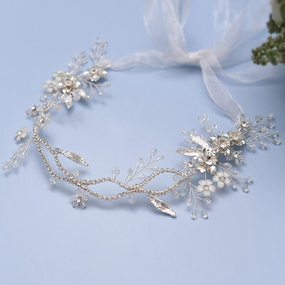 Ladies/Kids Beautiful Crystal/Rhinestone/Alloy/Imitation Pearls Headbands With Rhinestone/Venetian Pearl/Imitation Crystal (Sold in single piece)