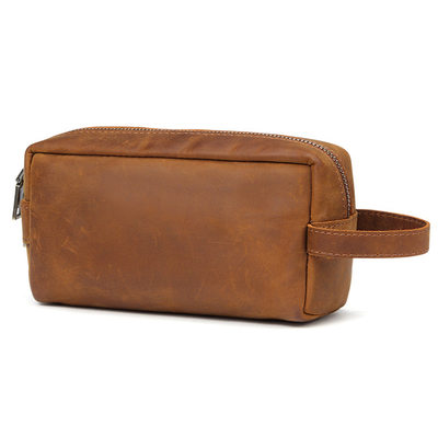 Groomsmen Presenter - Elegant Läder Dopp Kit Bag
