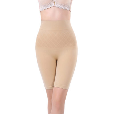Women Sexy/Casual Spandex Breathability High Waist Shorts With Jacquard Shapewear