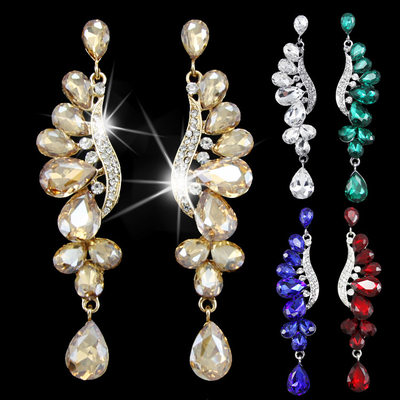 Ladies' Romantic Alloy/Rhinestones Earrings