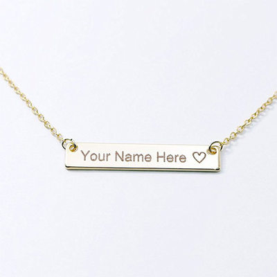 Personalized Ladies' Exquisite 925 Sterling Silver Name/Engraved/Bar Necklaces For Bride/For Bridesmaid/For Mother/For Friends/For Couple