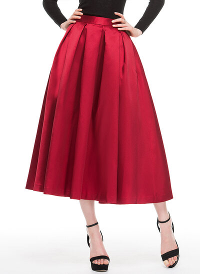 Forme Princesse Longueur mollet Satiné Robe de cocktail