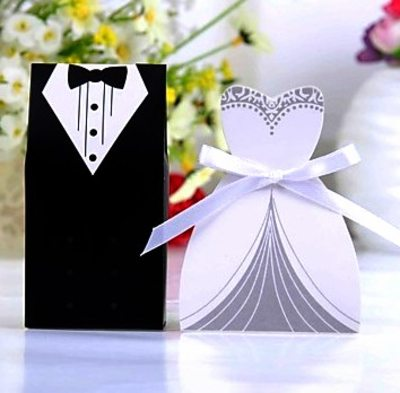 Groom Gifts - Modern Paper Gift Box/Bag (Set of 6)