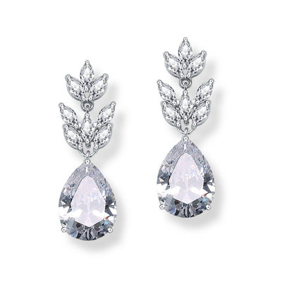 Elegant Alloy/Zircon With Cubic Zirconia Ladies' Earrings