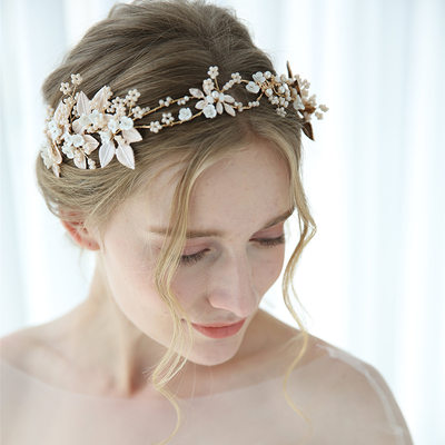 Classic Alloy Tiaras With Venetian Pearl/Crystal (Sold in single piece)