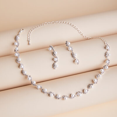 Ladies' Stylish Alloy/Rhinestones/Imitation Pearls Jewelry Sets