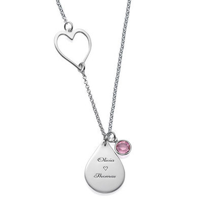 Personalized Ladies' Exquisite With Round Cubic Zirconia Engraved Necklaces Necklaces For Bride/For Mother