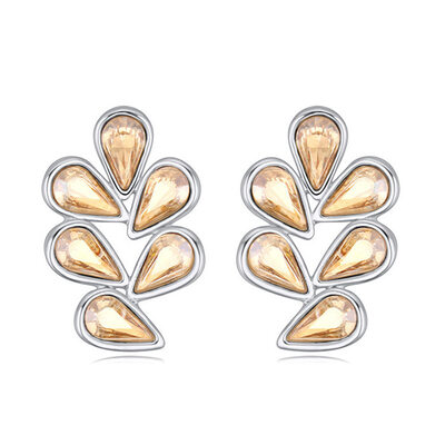 Ladies' Alloy/Platinum Plated With Pear Austrian Crystal Earrings For Bridesmaid/For Friends