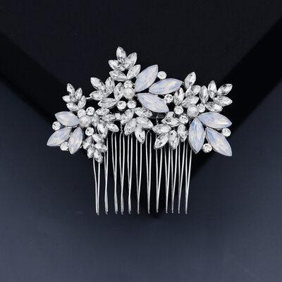 Ladies Beautiful Rhinestone/Alloy/Imitation Pearls Combs & Barrettes With Rhinestone (Sold in single piece)