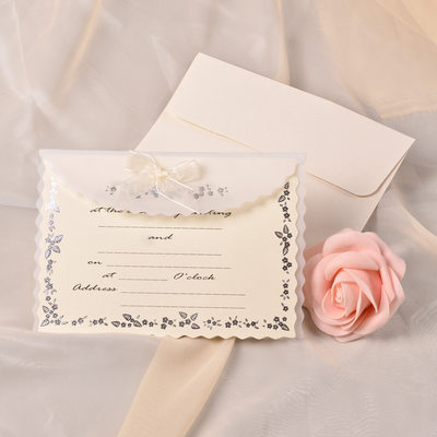 Stile classico Wrap & Pocket Invitation Cards