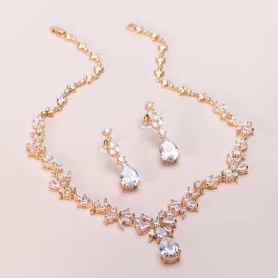 Ladies' Pretty Copper/Cubic Zirconia Cubic Zirconia Jewelry Sets For Bride