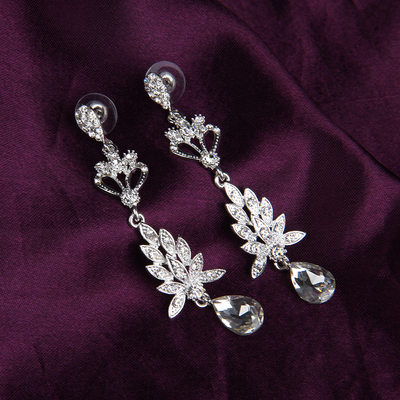 Beautiful Alloy/Rhinestones With Rhinestone Ladies' Earrings