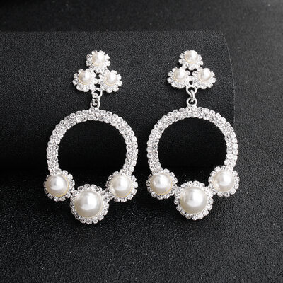 Ladies' Elegant Rhinestones/Imitation Pearls Earrings For Bride/For Bridesmaid/For Mother/For Friends/For Couple
