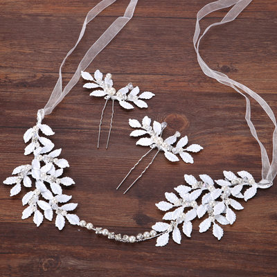 Alloy/Imitation Pearls Hairpins/Headbands (Set of 3 pieces)