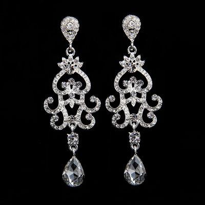 Gorgeous Alloy/Rhinestones With Rhinestone Ladies' Earrings