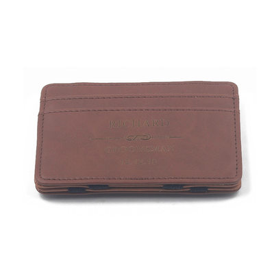 Groomsmen Gifts - Personalized Modern Pu Card Holder
