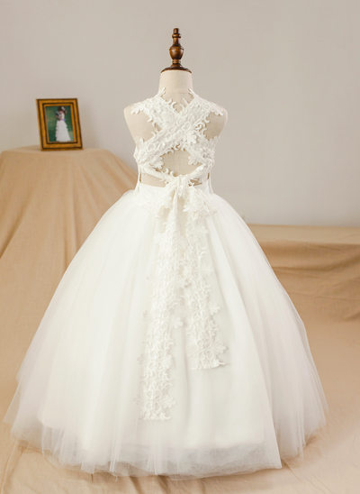 Ball Gown Floor Length Flower Girl Dress